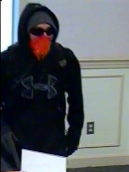 Armed robbery suspect from PNC Bank robbery in Carroll Valley on April 25.