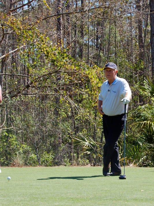 Jack Nicklaus playing golf