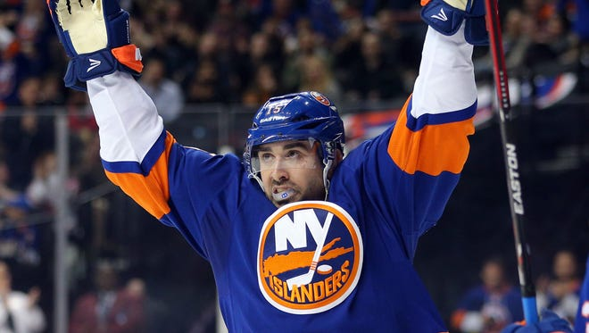 New York Islanders right wing Cal Clutterbuck is an important role player.
