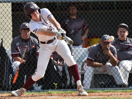 Greensburg Central Catholic's Jack Liberatore swings