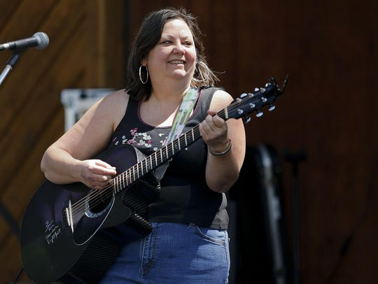 Jeni Dodd caps off the Music in Library Park Series Tuesday.