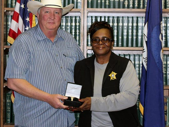 DeSoto Parish Sheriff's Office receptionist Peggy Lewis recently retired.