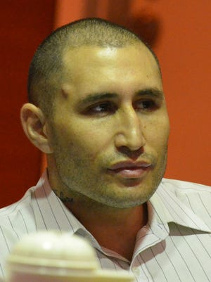 Allan Agababa at his murder trial at the Superior Court of Guam on Oct. 21.