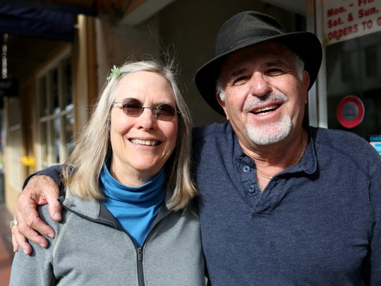 Beth and Farouk Husseini, with the Marion County Master Gardeners, at the Statesman Journal's Holding Court at the Court Street Dairy Lunch in downtown Salem on Tuesday, Feb. 16, 2016.