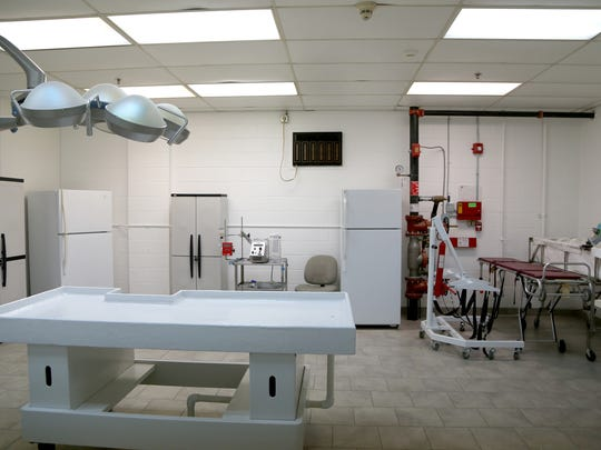The lab where the body is prepared to enter the Cryonic