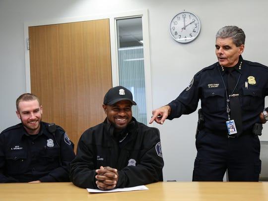 Detroit Police Asst. Chief Steve Dolunt (right) is
