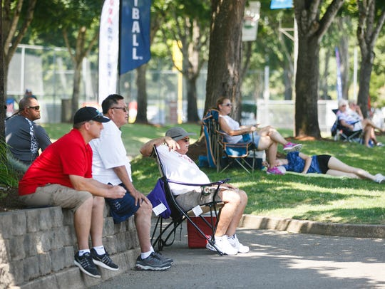 Spectators watch the USA Softball 18A National Championship