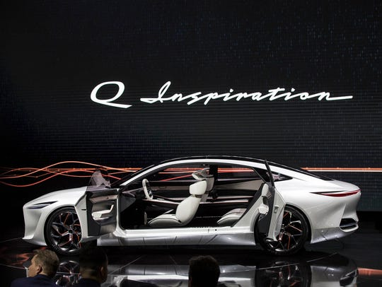 The Infiniti Q Inspiration concept is revealed during