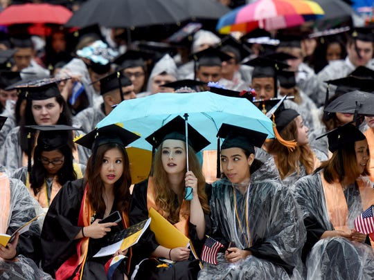 The 50th commencement ceremony of Bergen Community College graduation was held at MetLife Stadium on Thursday, May 17, 2018.