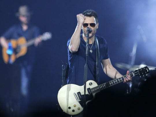 Eric Church gave 9,619 fans nearly three hours of music and 37 songs at the Resch Center in 2017.