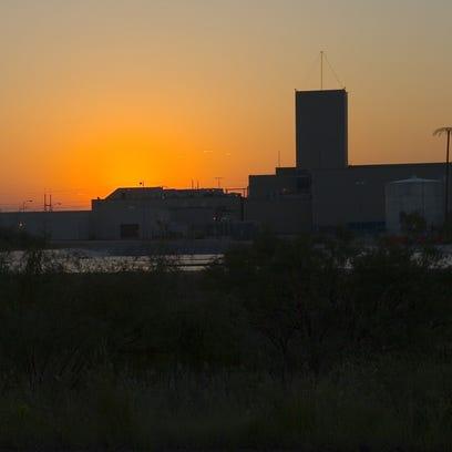 The Waste Isolation Pilot Plant at sunrise.