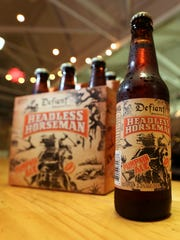 Headless Horseman pumpkin ale at Defiant Brewing in Pearl River, which is undergoing a major 10,000 sq.ft. expansion and renovation.