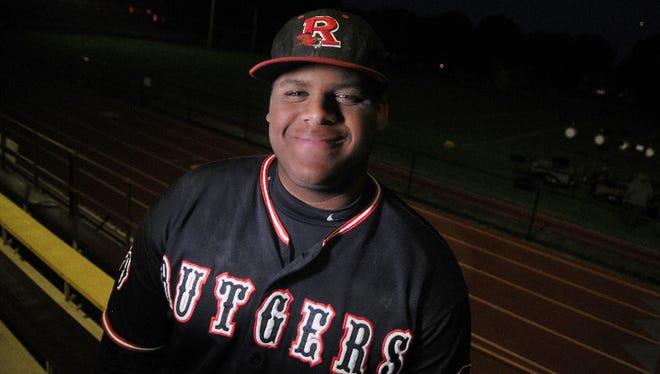Skyler Glover Rutgers-Camden first baseman, spring 2016.