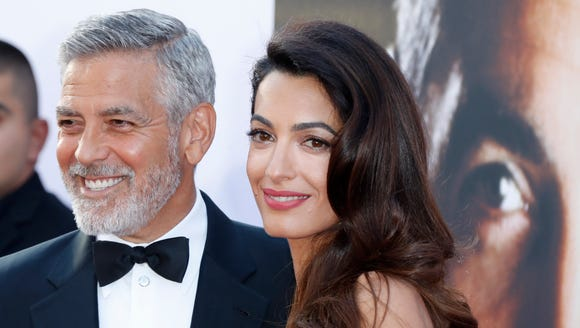 George Clooney and his wife Amal Clooney arrive for the American Film Institute 46th Life Achievement Award Gala in Hollywood, California, USA on June 7, 2018.