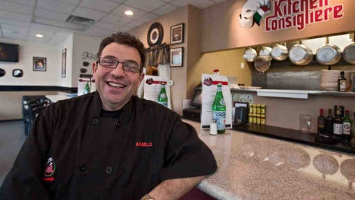 Angelo Lutz moved his Kitchen Consigliere restaurant to bigger digs last year. Now, he's ready for the Food Network