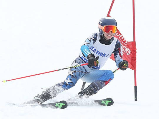 Cole Lovejoy, shown during last year's Section 1 Ski