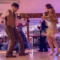 Kyle Labrecque and Laura Markin tear up the dance floor at the Prom for Adults held at The Fraternal Order of the Eagles Saturday evening.