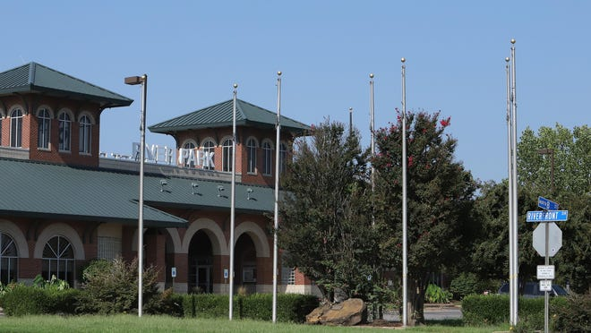 The Fort Smith Riverfront Park as seen, Saturday, September 5, at Riverfront Drive along the Arkansas River.