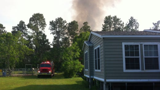 Florida Forest Services responded to seven fires on Thursday.