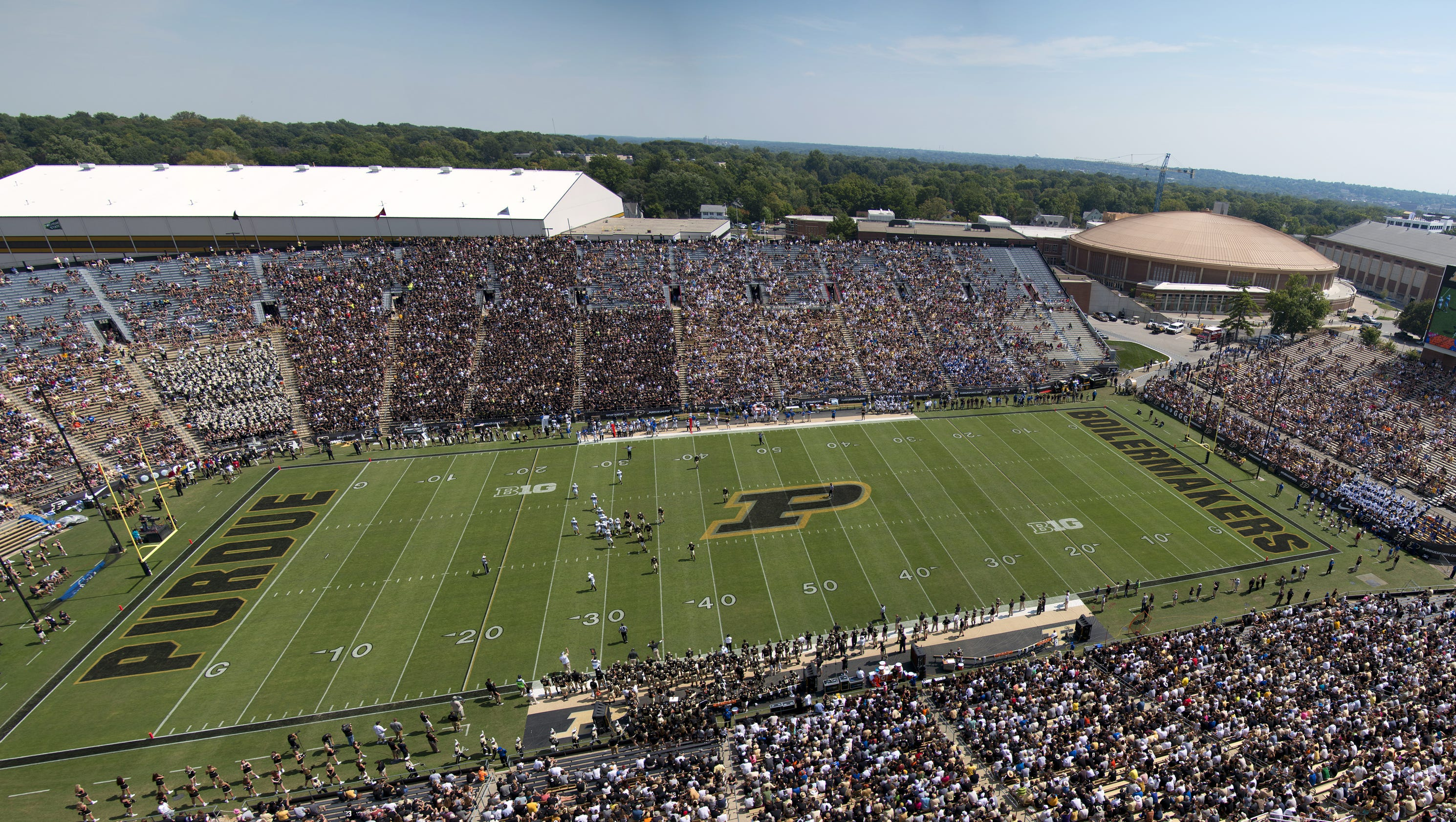 permanent lights pave way for purdue football night games