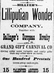 Ad for Opelousas Opera House in 1889