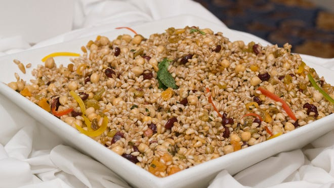 Try using a grain, such as farro, instead of bread for your Thanksgiving stuffing this year.