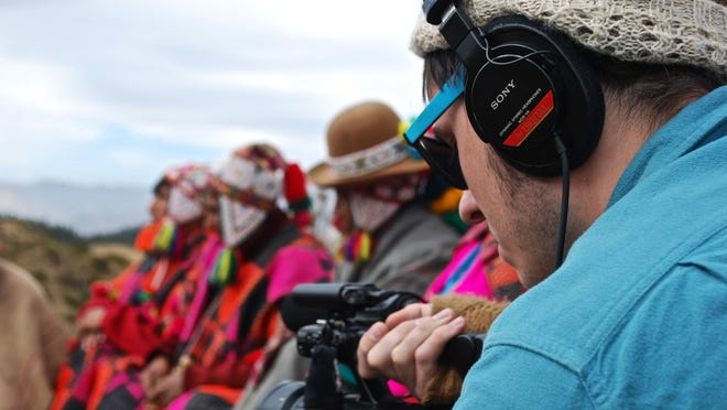 George Murphy films members of the Q'ero community in Peruvian Andes last year.