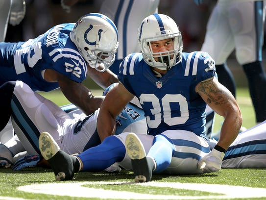 LaRon Landry played two years for the Colts at safety.