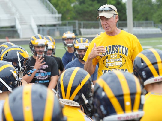 Clarkston coach Kurt Richardson