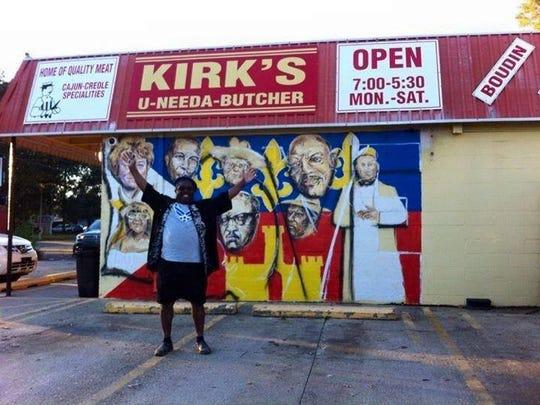 In October, Kirk's U-Needa-Butcher literally received