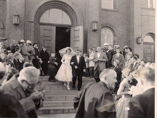 Alexander and Jane Romanow on their wedding day.