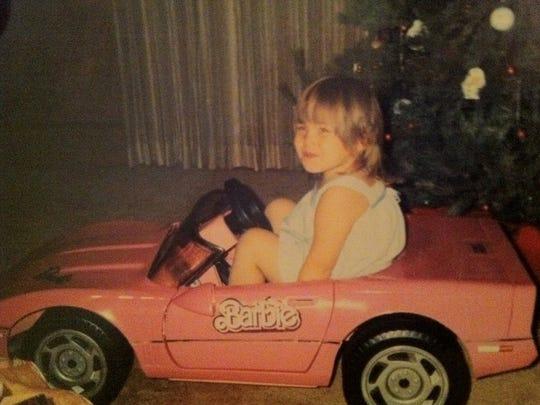 Alex's First Sports Car: A Pink Barbie Corvette