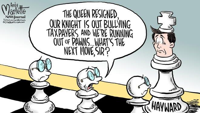 Cartoon about City Hall.