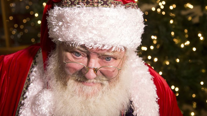 Mark Brenneman, of Chandler, has been playing Santa for 43 years. It all started when he was a school teacher in 1972 and a kindergartner tugged on his beard.  November 28, 2015.