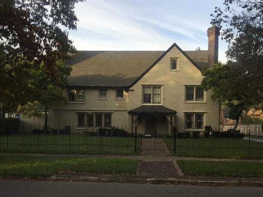 This stucco home on Iroquois Avenue will be featured on the Indian Village holiday home tour.
