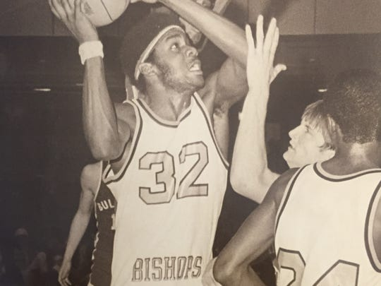 Asbury Park's David Williams scores for the Blue Bishops during the 1977-78 season, when they finished the year No. 1 in the Asbury Park Press Top 10.