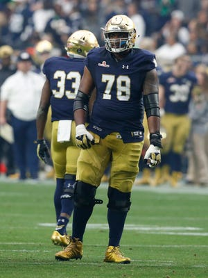 Notre Dame offensive tackle Ronnie Stanley.