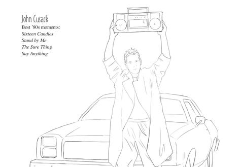 john cusack in color me swoon photo mel elliottperigee - Celebrity Coloring Book