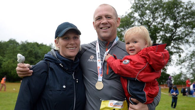 Zara Phillips Tindall and Mike Tindall are expecting their second child. Their first daughter, Mia, pictured, is almost three.