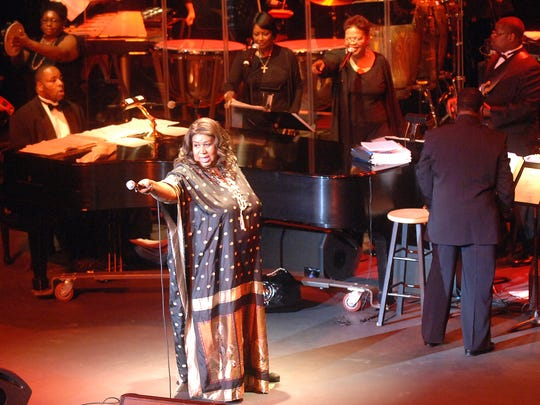 Memphis born and Detroit raised Aretha Franklin entertained