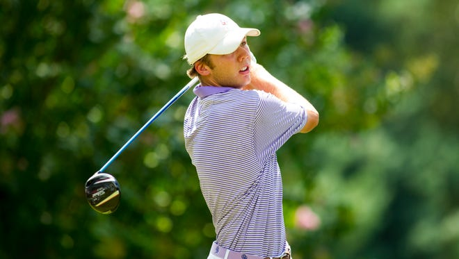 Sam Burns fired a 6-under 66 in the second round of the U.S. Amateur at Atlanta Athletic Club in Johns Creek, Ga.