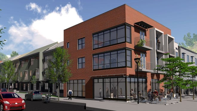 The land Martin Humphreys LLC bought is up the street from Core Development's The Finery,  which includes the Six10 Merritt mixed-use building shown here.