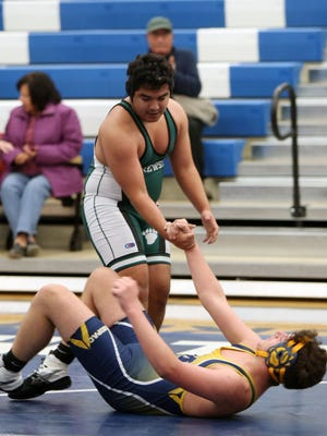 Mahopac and Brewster in wresting semifinal action during the Section 1 Wrestling Dual Meet Championship at Hendrick Hudson High School in Montrose Dec. 7, 2016.
