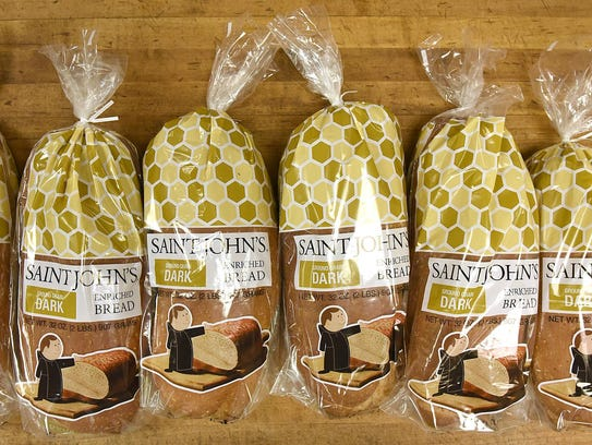 Bags of bread Wednesday at St. John's University.