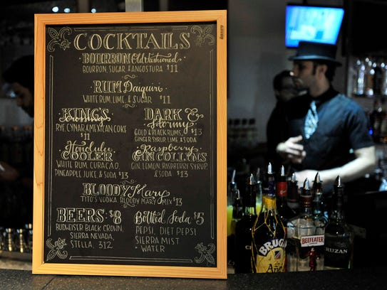 A list of drinks offered at the Sugar House. New food