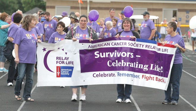 Leading the way at the 2015 Relay For Life in Van Horne last June.