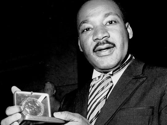 In this Dec. 10, 1964, file photo, U.S. civil rights
