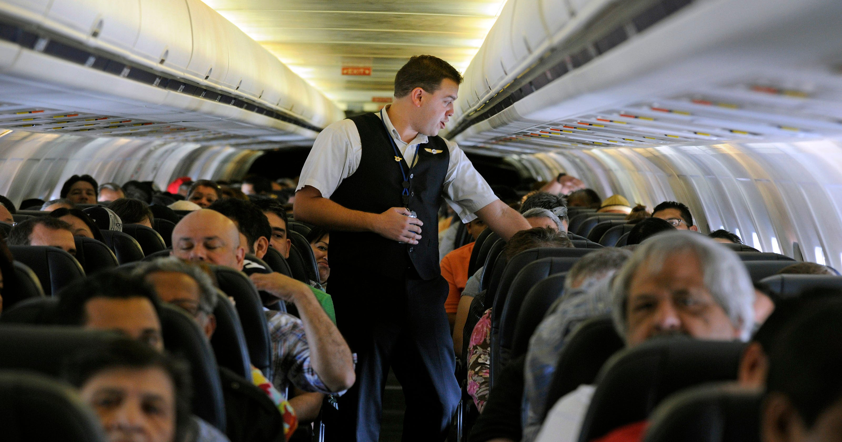 What if flight attendants could reward passengers for good