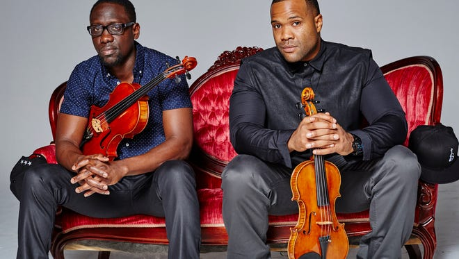 Wil B. (Wilner Baptiste, left) and Kev (Kevin Sylvester) are known to the music world as Black Violin. Both classically trained, their musical repertoire includes influences of everything from folk to hip-hop.