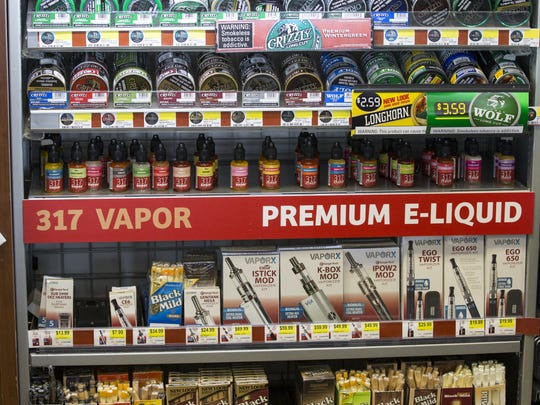 Oils used in vaping devices, along with smokeless tobacco.